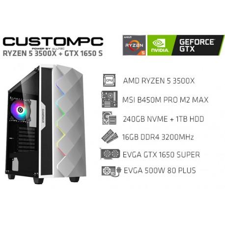 CUSTOMPC (RYZEN 5 3500X): 16GB, 240GB SSD, 1TB, GTX 1650 SUPER