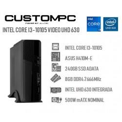 CUSTOMPC SLIM (INTEL Core I3-10105): 8GB, 240GB SSD, UHD 630