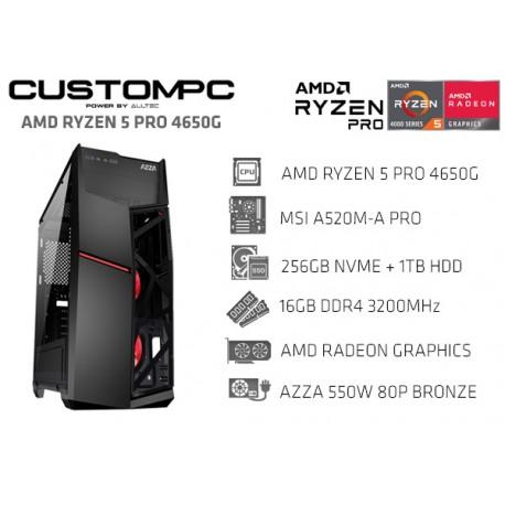 CustomPC (AMD RYZEN 5 PRO 4650G): 16GB, 256GB NVME, 1TB, RADEON GRAPHICS 1900MHz
