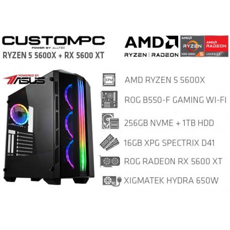 CustomPC (AMD Ryzen 5 5600X): 16GB, 256GB SSD NVME, 1TB HDD, RX 5600 XT