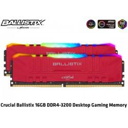16GB KIT DDR4 3200MHZ (2X8GB) CRUCIAL BALLISTIX RGB GAMING 1,35V (RED) (BL2K8G32C16U4RL)
