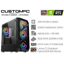 CustomPC (AMD Ryzen 5 5600X): 16GB, 480GB SSD, 1TB HDD, RTX 2060 6GB