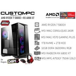 CUSTOMPC (AMD RYZEN 7 5800X): 32GB, 1TB NVME, 2TB HDD, RX 6800 XT 16GB