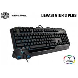 COMBO TECLADO/MOUSE COOLER MASTER DEVASTATOR 3 PLUS (LED 7 COLORES)