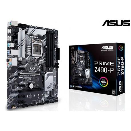 M.B. ASUS PRIME Z490-P (LGA1200) (Intel® Core ™ de 10a generación)