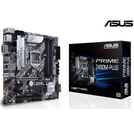 M.B. ASUS PRIME Z490M-PLUS (LGA1200) (Intel® Core ™ de 10a generación)
