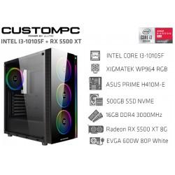 CustomPC (INTEL I3-10105F): 16GB, 500GB NVMe, RX 5500 XT 8G GAMING X