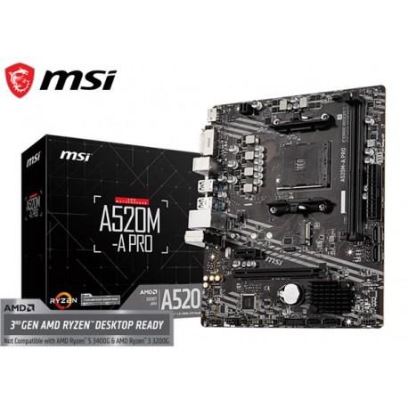 M.B. MSI A520M-A PRO (AM4) DDR4 (RYZEN)