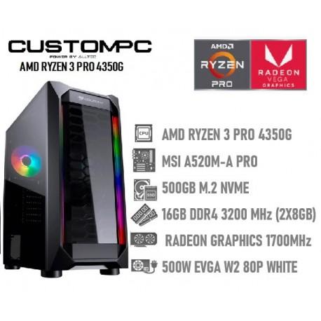 CustomPC (AMD RYZEN 3 PRO 4350G): 16GB, 500GB NVME, RADEON GRAPHICS