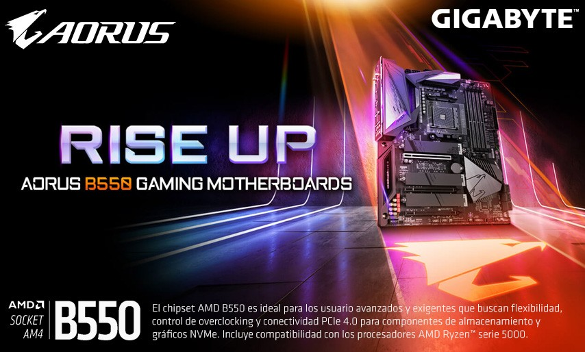 Rise UP Aorus B550 Gaming Motherboards